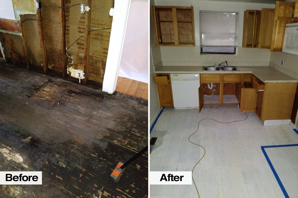 Before and After Mold Removal in Jacksonville